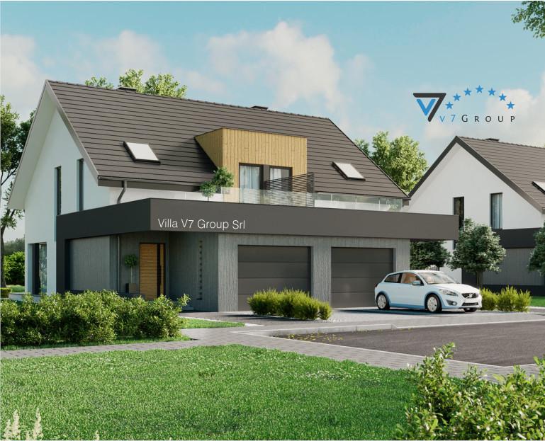 Immagine Villa V61 (B) - il dettaglio della villa a schiera moderna