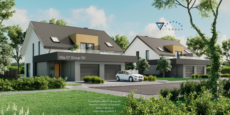 Immagine Villa V61 (B) - il garage doppio e la parte frontale
