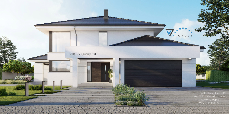 Immagine Villa V64 (progetto originale) - vista frontale grande