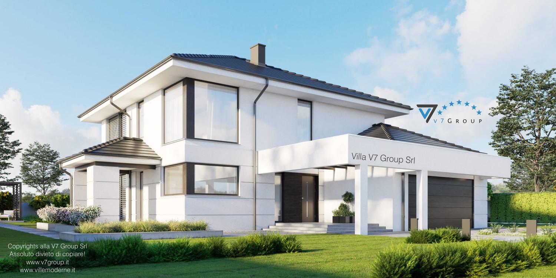 Immagine Villa V64 (progetto originale) - vista frontale laterale grande