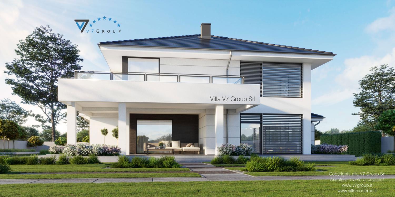 Immagine Villa V64 (progetto originale) - vista giardino grande