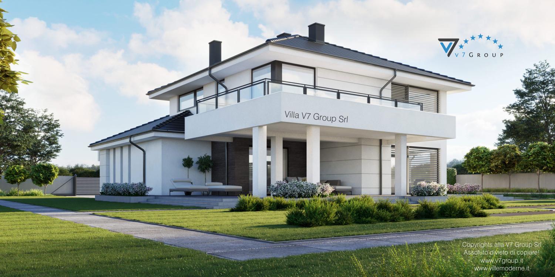 Immagine Villa V64 (progetto originale) - vista giardino laterale grande