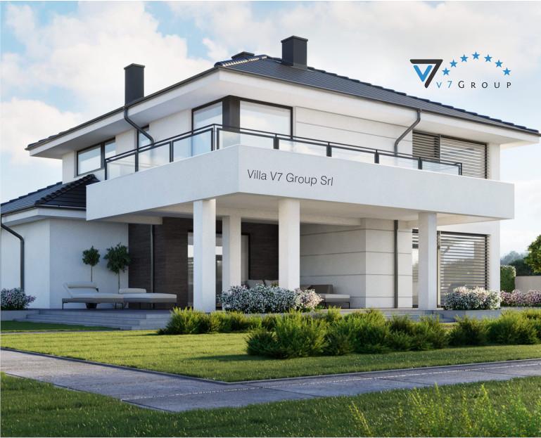 Immagine Villa V60 (progetto originale) - la piscina esterna e il terrazzo ingrandito