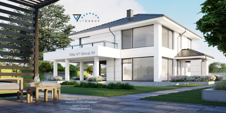 Immagine Villa V64 (progetto originale) - vista terrazzo esterno grande