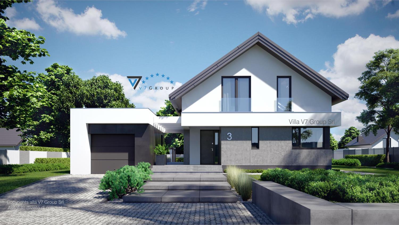 Immagine Villa V3 (progetto originale) - nuova visualizzazione - vista frontale