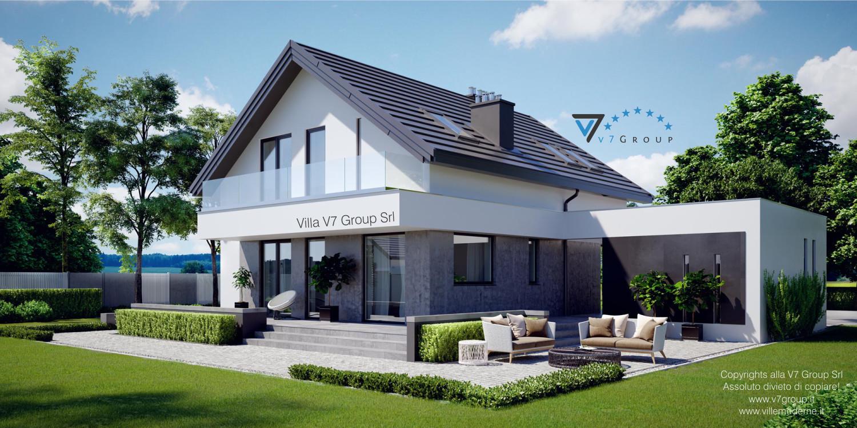 Immagine Villa V3 (progetto originale) - nuova visualizzazione - vista giardino