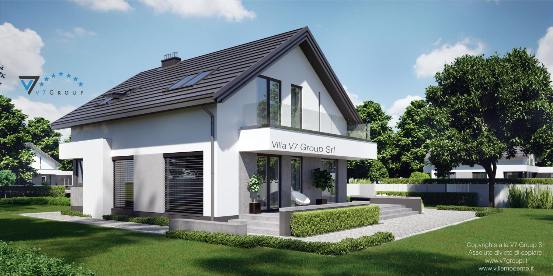 Immagine Villa V3 (progetto originale) - nuova visualizzazione - vista laterale
