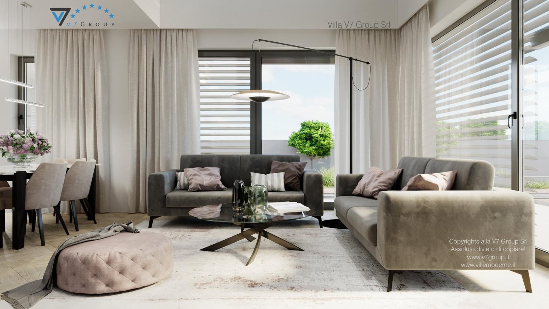 Immagine Villa V64 (progetto originale) - interno 1 - soggiorno