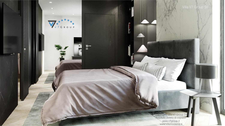 Immagine Villa V64 (progetto originale) - interno 10 - camera matrimoniale