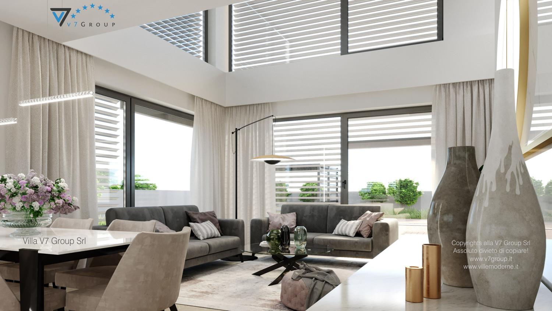 Immagine Villa V64 (progetto originale) - interno 2 - soggiorno