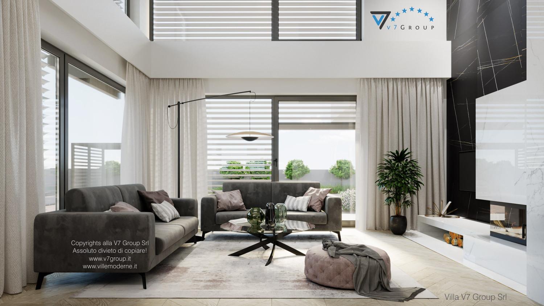 Immagine Villa V64 (progetto originale) - interno 3 - soggiorno