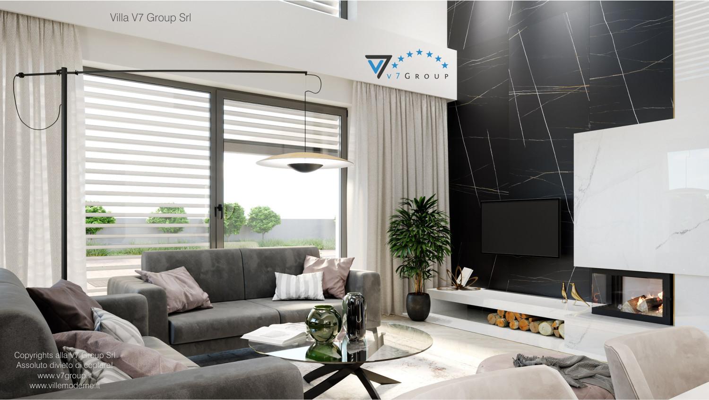 Immagine Villa V64 (progetto originale) - interno 4 - soggiorno