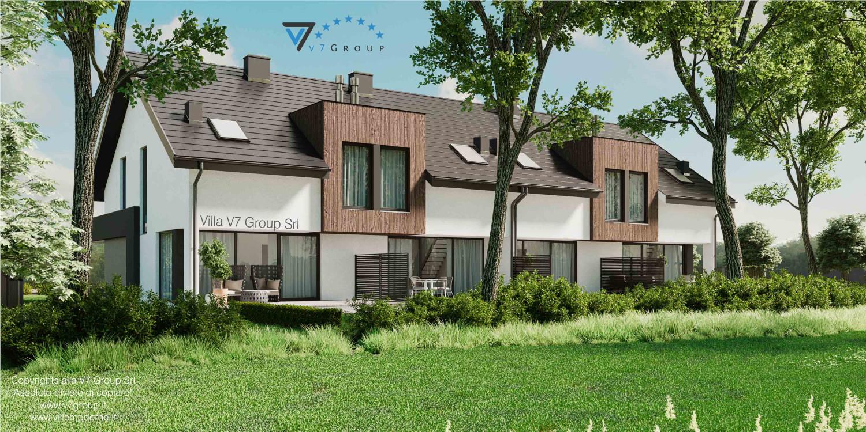 Immagine Villa V61 (B2) - aggiornamento variante - vista giardino