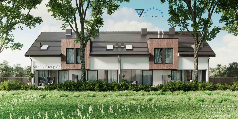 Immagine Villa V61 (B2) - aggiornamento variante - vista terrazzo esterno
