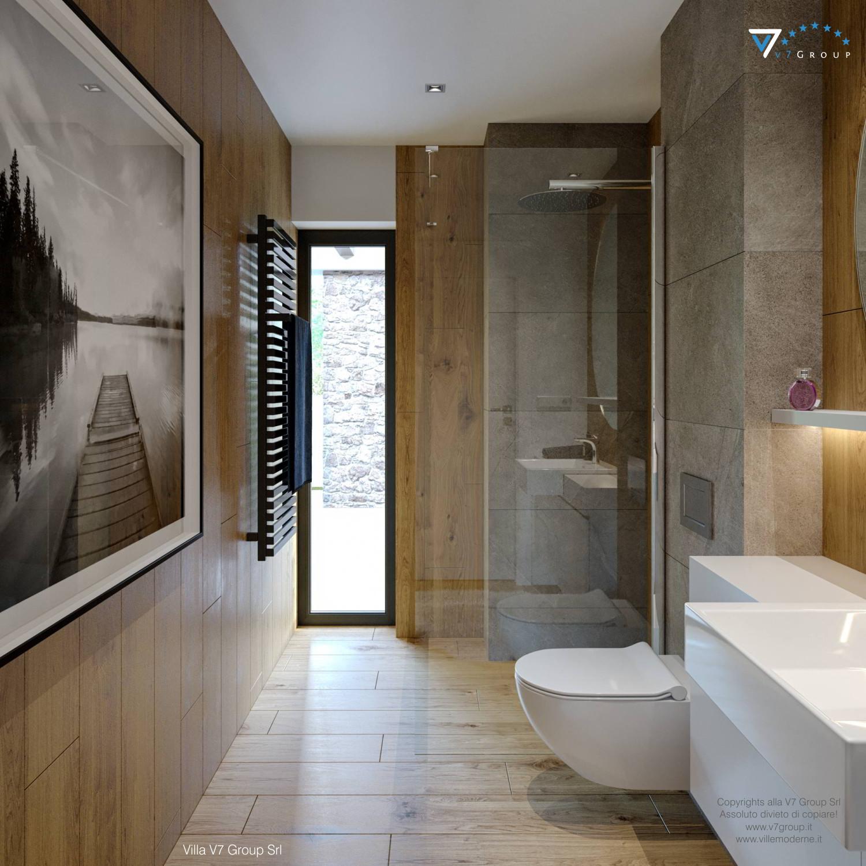 Immagine Villa V66 - interno 18 - vista porta balcone nel bagno grande