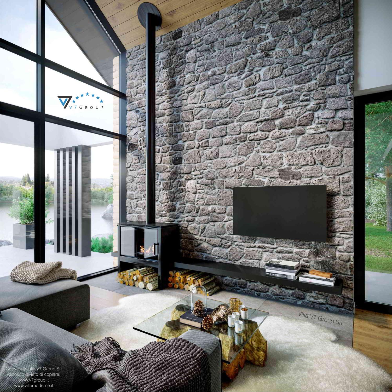 Immagine Villa V66 - interno 2 - il divano e la tv nel soggiorno