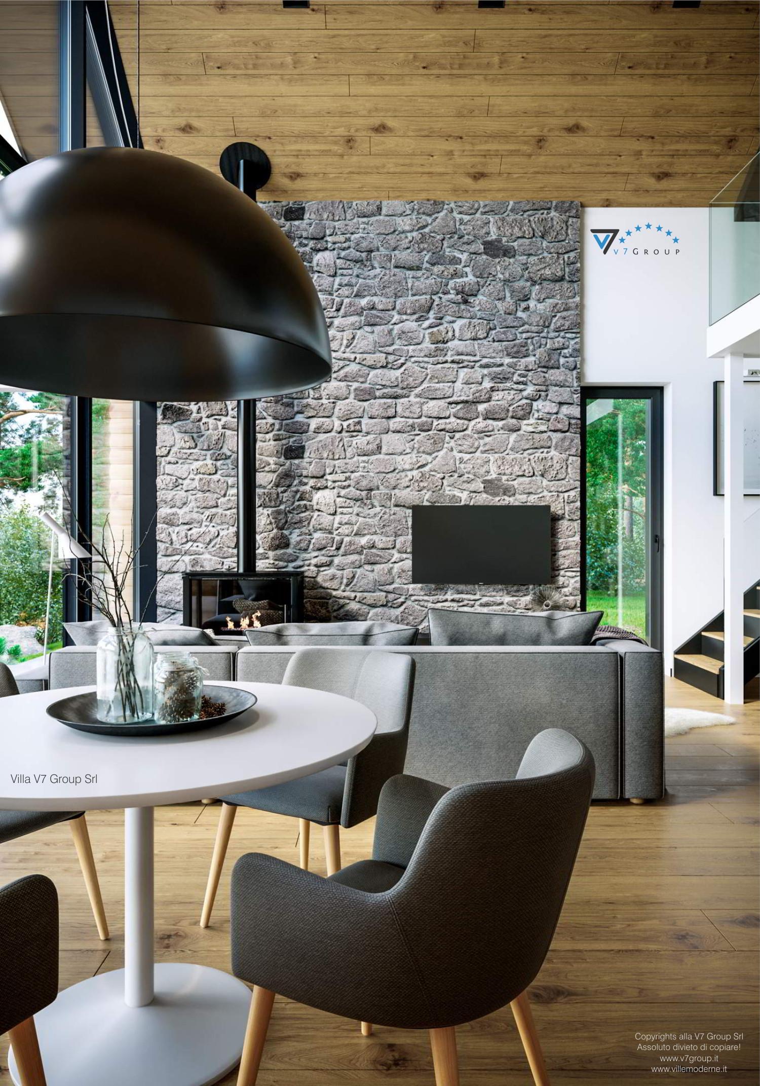 Immagine Villa V66 - interno 4 - vista soggiorno cinematografica grande