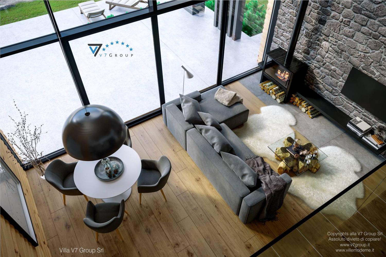 Immagine Villa V66 - interno 5 - vista soggiorno dall'alto grande