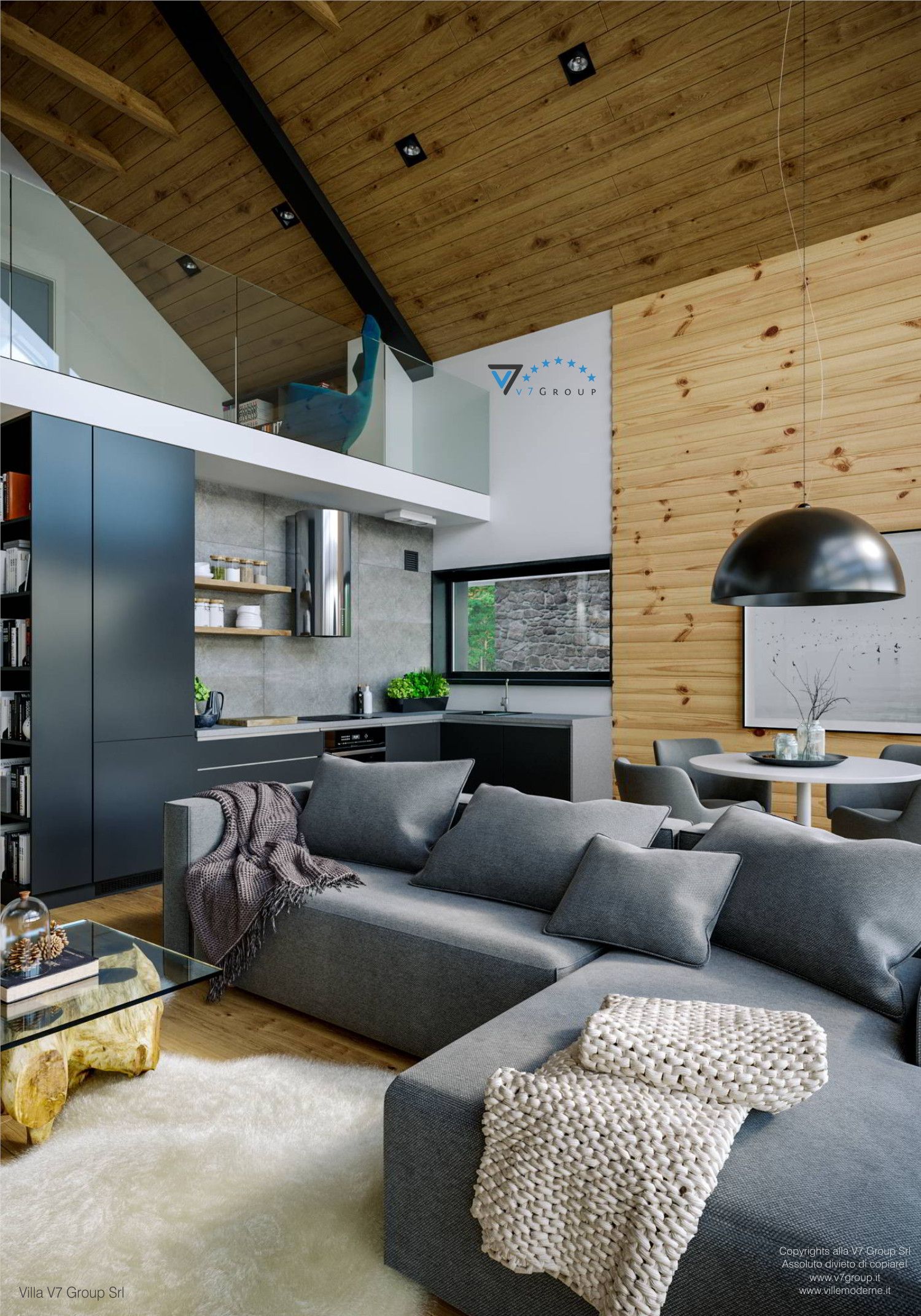 Immagine Villa V66 - interno 7 - vista cucina grande