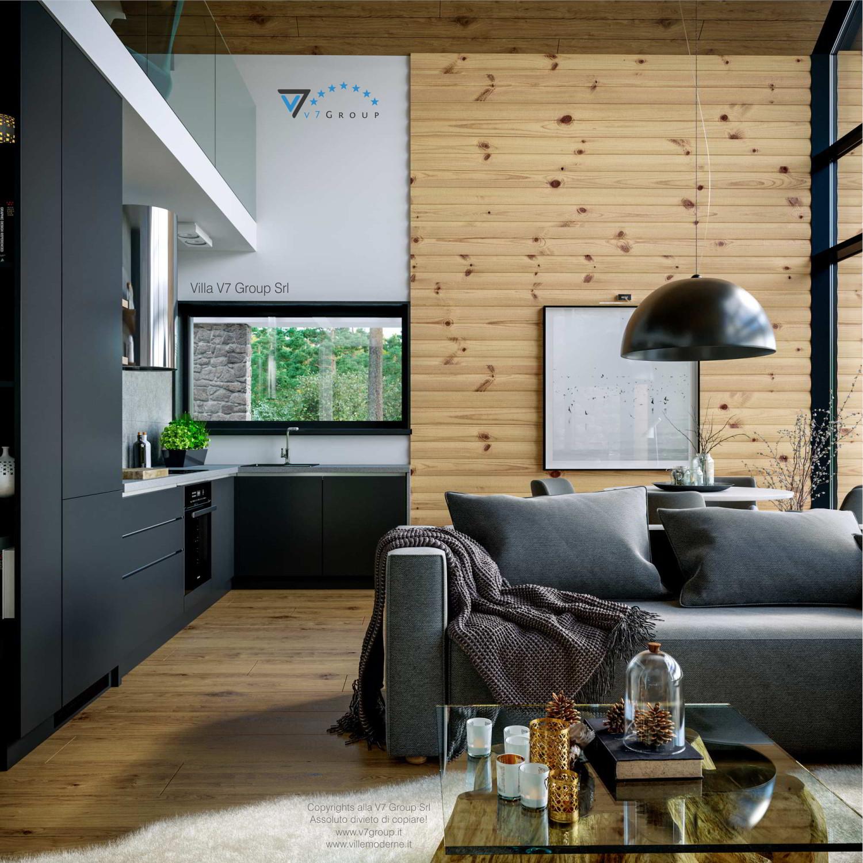 Immagine Villa V66 - interno 9 - vista cucina e soggiorno grande