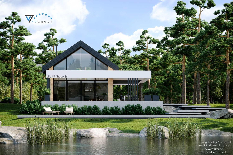 Immagine Villa V66 - vista diretta giardino e soggiorno grande
