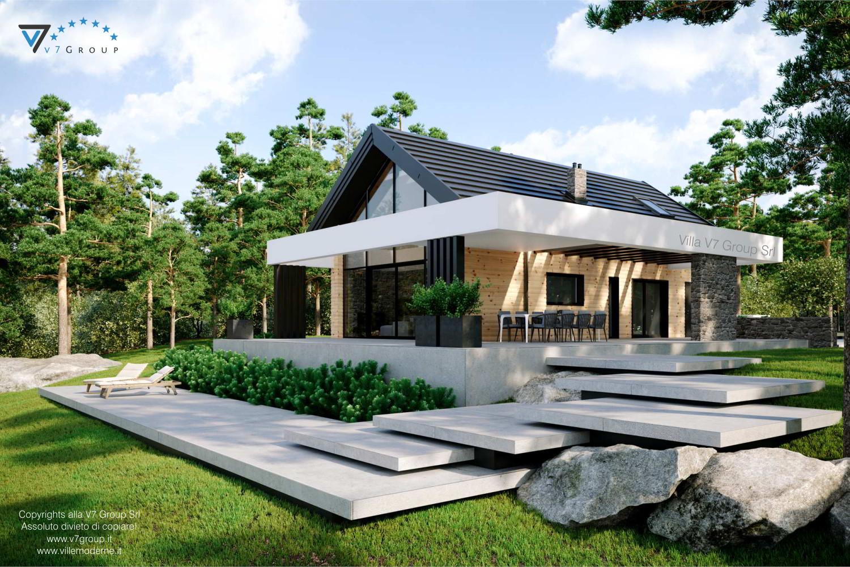 Immagine Villa V66 - vista frontale laterale grande