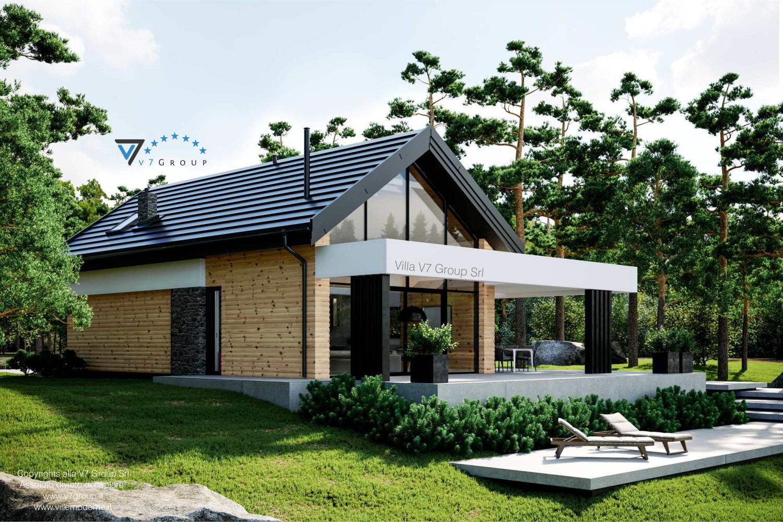 Immagine Villa V66 - vista laterale giardino grande