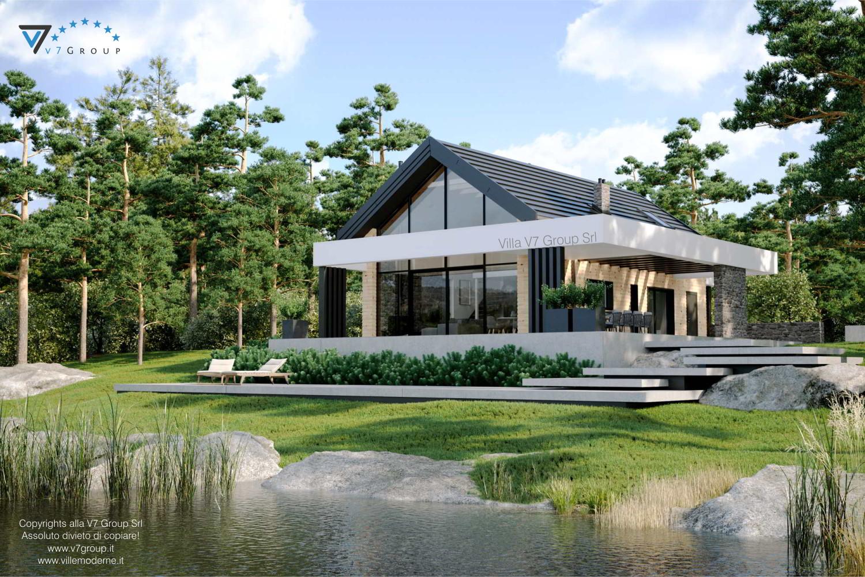 Immagine Villa V66 - vista terrazzo esterno e sistemazione esterna grande