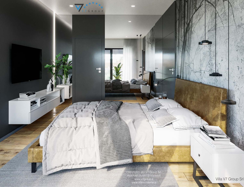 Immagine Villa V68 - interno 10 - la tv e il letto nella camera matrimoniale