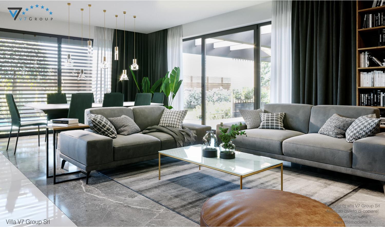 Immagine Villa V68 - interno 2 - vista soggiorno e sala da pranzo grande
