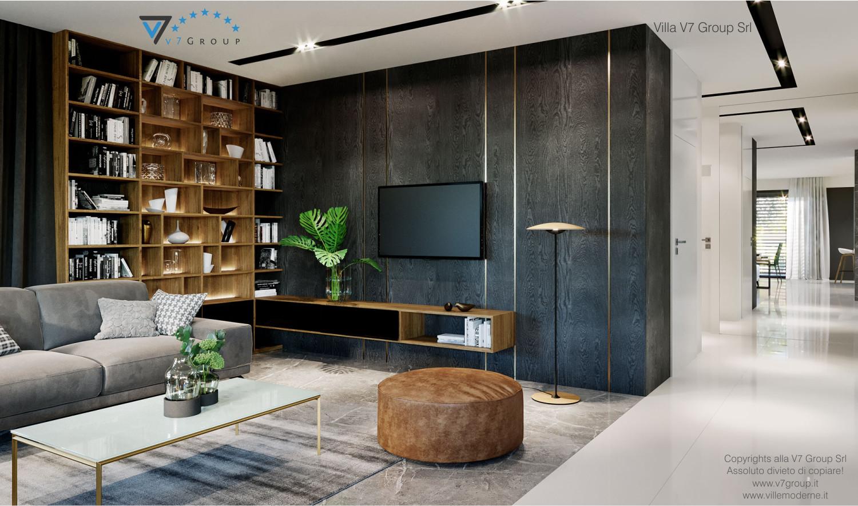 Immagine Villa V68 - interno 3 - vista soggiorno e corridoio