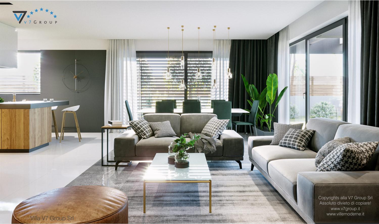 Immagine Villa V68 - interno 5 - il divano e il tavolo nel soggiorno