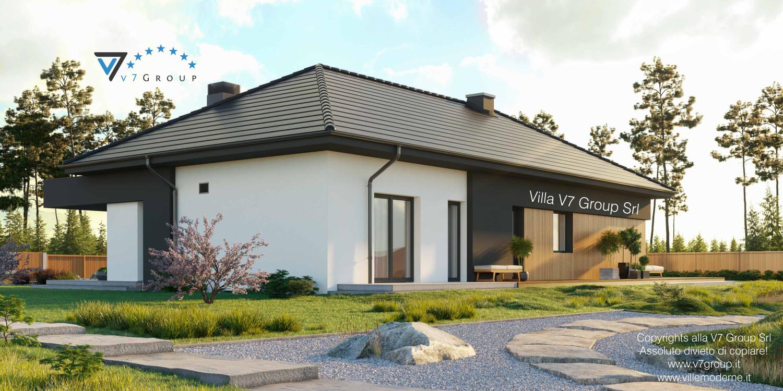 Immagine Villa V69 - vista laterale giardino grande