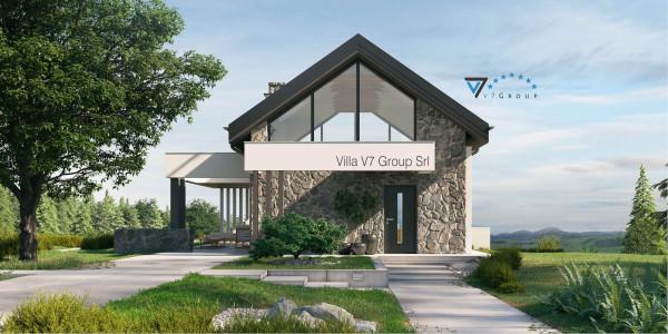 Immagine Ville di V7 Group Srl - la parte frontale di Villa V65