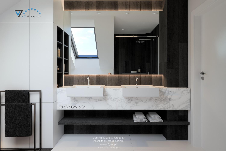 Immagine Villa V53 - interno 12 - i lavandini e lo specchio grande