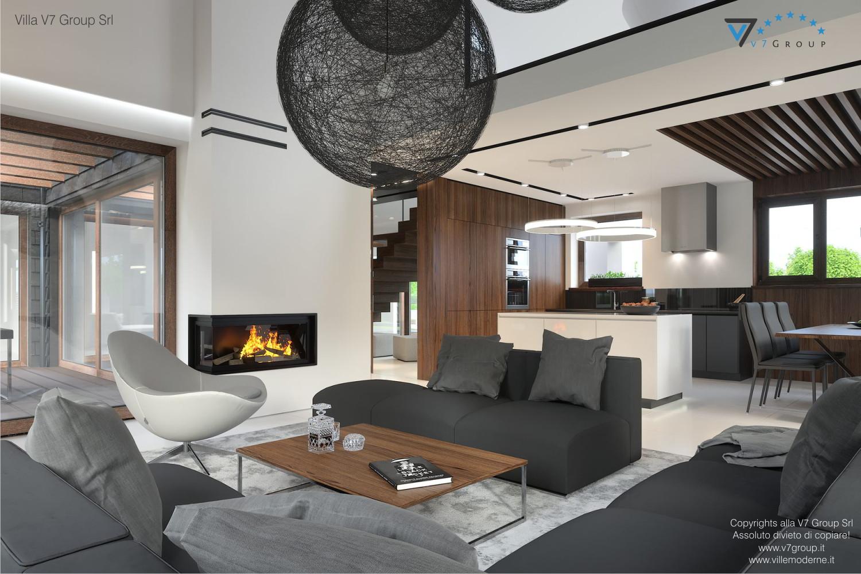 Immagine Villa V53 - interno 2 - soggiorno e cucina grande