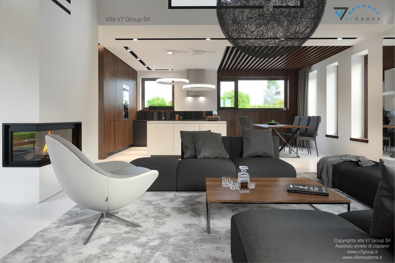Immagine Villa V53 - interno 3 - sistemazione del soggiorno grande