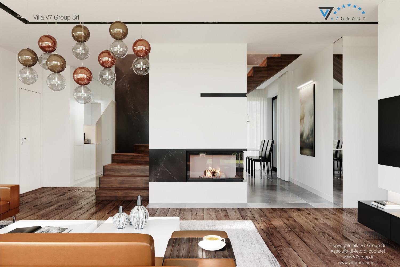 Immagine Villa V56 - interno 3 - il camino nel soggiorno grande