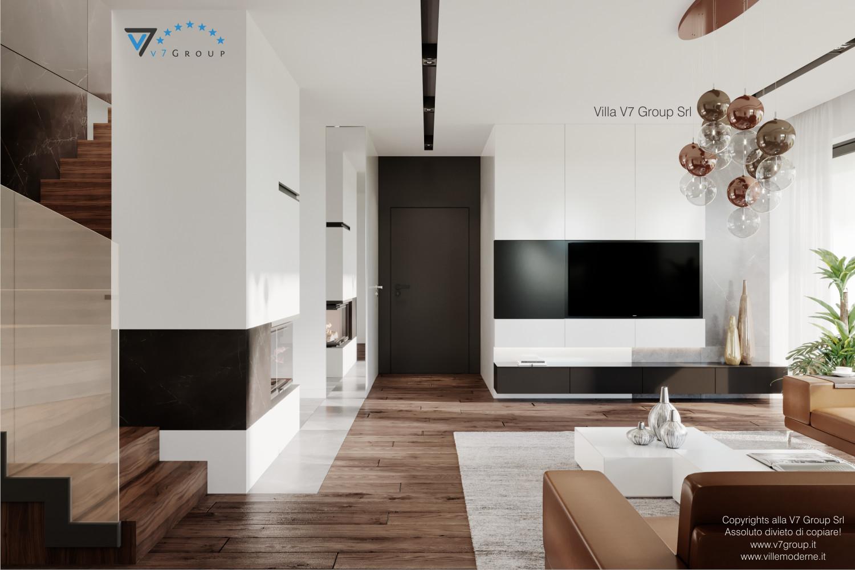 Immagine Villa V56 - interno 6 - le scale nel soggiorno grande