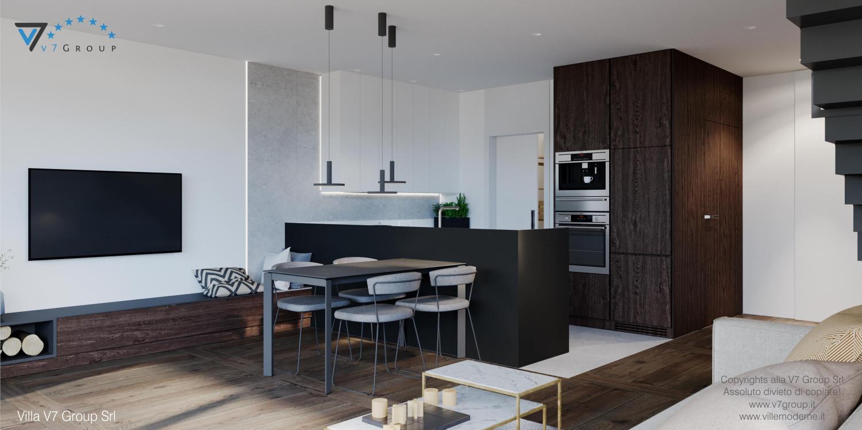 Immagine Villa V61 (D) - interno 3 - soggiorno e cucina