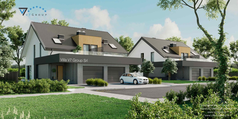 Immagine Villa V61 (D) - vista frontale grande