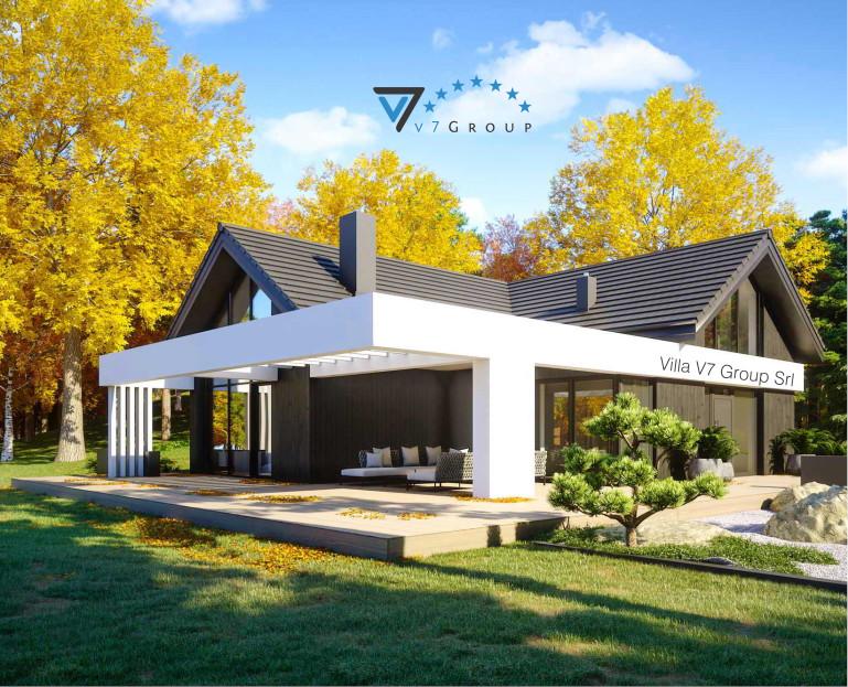 Immagine Villa V67 (progetto originale) - vista giardino in dettaglio