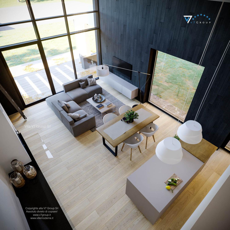 Immagine Villa V67 - interno 10 - il soggiorno dall'alto