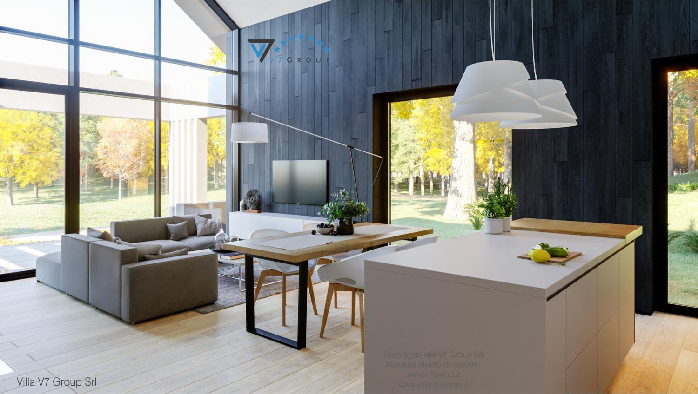 Immagine Villa V67 - interno 2 - soggiorno e sala da pranzo grande