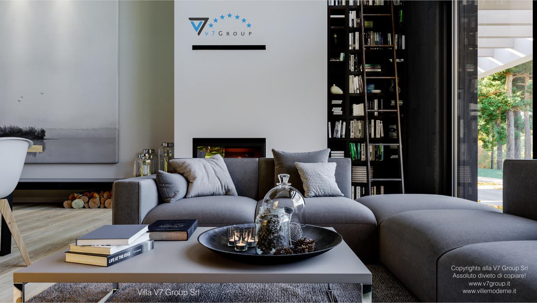Immagine Villa V67 - interno 3 - il divano nel soggiorno