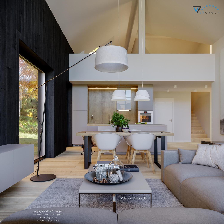 Immagine Villa V67 - interno 5 - la sala da pranzo, la cucina e il soggiorno