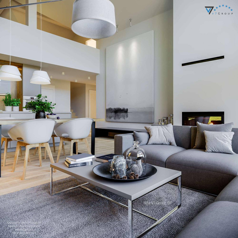 Immagine Villa V67 - interno 6 - il soggiorno e il soppalco