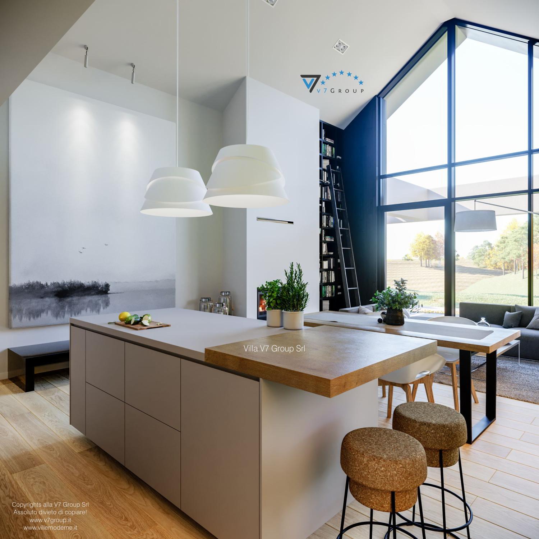 Immagine Villa V67 - interno 8 - la cucina e il soggiorno