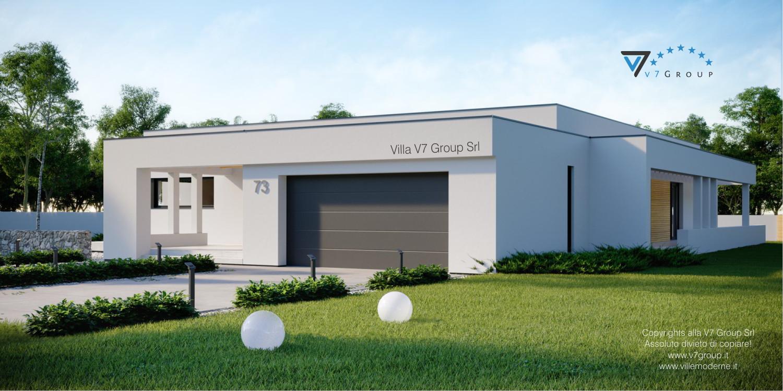 Immagine Villa V72 (progetto originale) - vista frontale Villa V73 - link