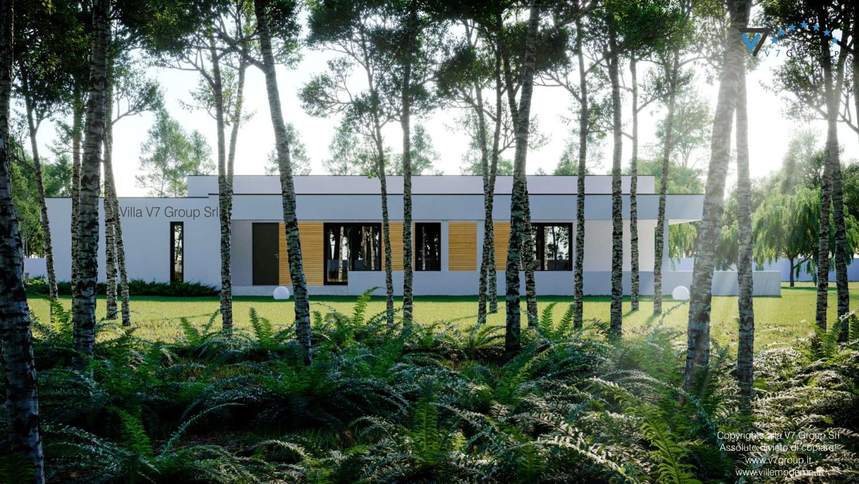 Immagine Villa V73 - vista laterale del giardino grande